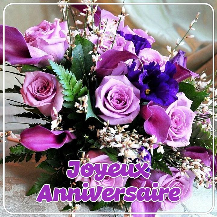 Images De Joyeux Anniversaire Avec Des Fleurs Feliciter Su